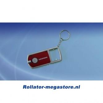Led sleutelhanger met vergrootglas